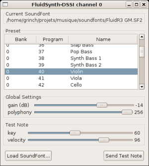 Using soundfonts